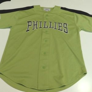 STARTER Philadelphia PHILLIES Green Jersey - M